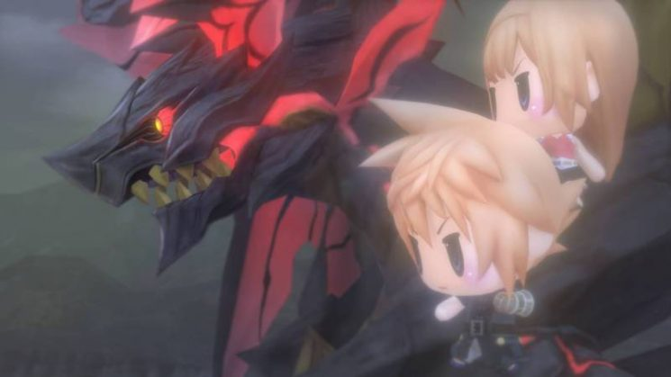 World of Final Fantasy - Bahamut et Cloud