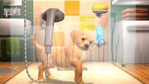 Une scène avec une chienne a poil dans la douche... Pet's est-il un jeu pour la famille ?
